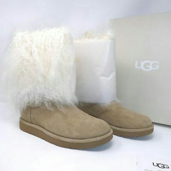 cc3e18290d6 NIB UGG Lida Mongolian Fur Cuff Boots NWT